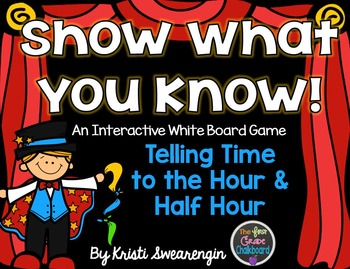 Interactive Whiteboard Game: Telling Time (Hour & Half Hour)