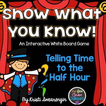 Interactive Whiteboard Game: Telling Time to the Half Hour