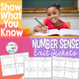 Number Sense Exit Tickets