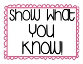 Show What You Know! Post-It Note Exit Ticket Poster