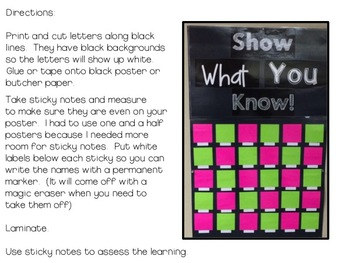 Show What You Know Poster