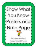 Show What You Know Posters