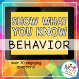 *Distance Learning* Show What You Know - School Rules & Behavior