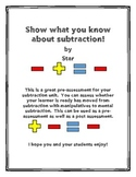 Show What You Know Subtraction!