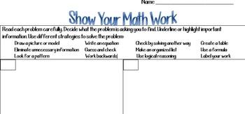 Show Your Math Work