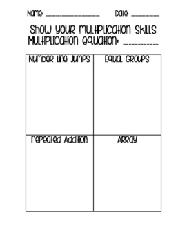 Show Your Multiplication Strategies