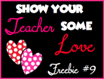 Show Your Teacher Some Love Freebie #9
