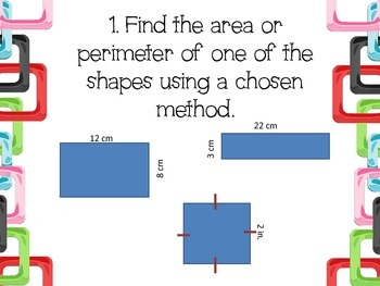 Show Your Thinking- Area, Perimeter, and Line Plots