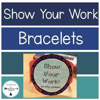 """Show Your Work"" Math Wristlets"