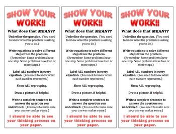 Show Your Work! bundle