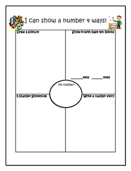 Show a Number 4 Different Ways - Number Sense
