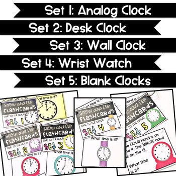 Show and Flip Flashcards (Time to the Hour)
