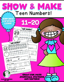 Teen Numbers {Show & Make Math} Kindergarten 11-20 Set Common Core