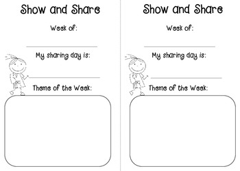 Show and Share -- Weekly Themes
