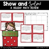 Show and Solve It: 3-Digit Addition & Subtraction CHRISTMAS Word Problems
