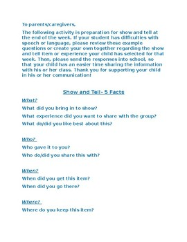 Show and Tell-5 Facts
