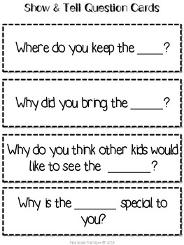 Show and Tell: A Common Core Based Resource for Speaking and Listening