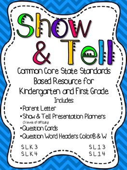 Show and Tell: A Common Core Based Resource for Speaking a
