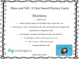 Show and Tell:  A First Sound Fluency Game