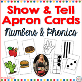 Show and Tell Apron Cards Numbers and Phonics
