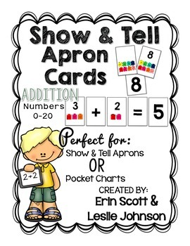 Show and Tell Apron Cards (Addition: Numbers 0-20 )