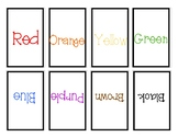 Show and Tell Apron Cards - Colors