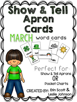 Show and Tell Apron Cards (March)