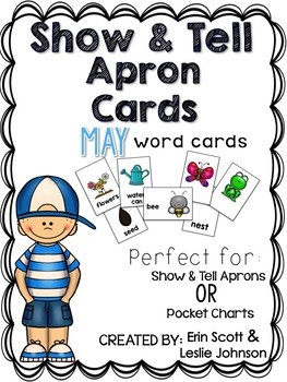 Show and Tell Apron Cards (May)