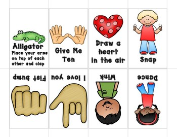 Show and Tell Apron Cards - Morning procedures and routines