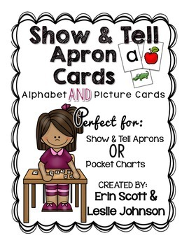 Show and Tell Apron Cards (Picture and letter cards)