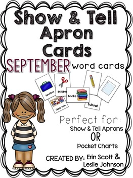 Show and Tell Apron Cards (September)