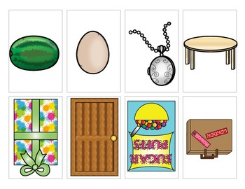 Show and Tell Apron Cards - Shapes