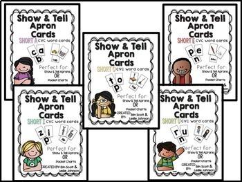 Show and Tell Apron Cards (Short Vowel CVC Bundle)