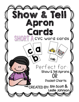 Show and Tell Apron Cards (Short a CVC cards)