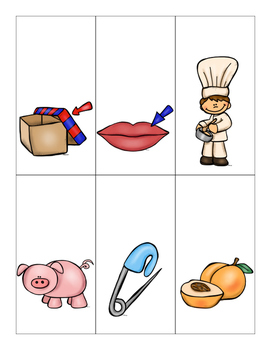Show and Tell Apron Cards (Short i CVC cards)