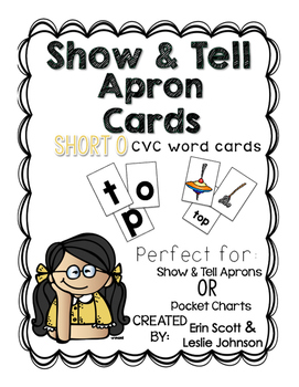 Show and Tell Apron Cards (Short o CVC cards)