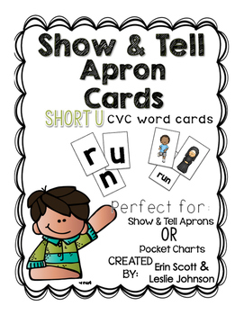 Show and Tell Apron Cards (Short u CVC cards)