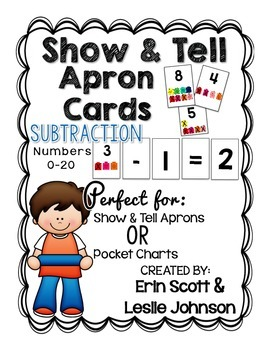 Show and Tell Apron Cards (Subtraction: Numbers 0-20 )
