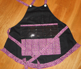 Show and Tell Apron (black with purple/golden center)