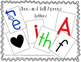 Show and Tell Apron Cards - Letter Pack