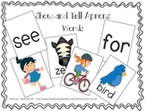 Show and Tell Apron Cards - Word Pack