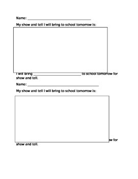 Show and Tell Assignment