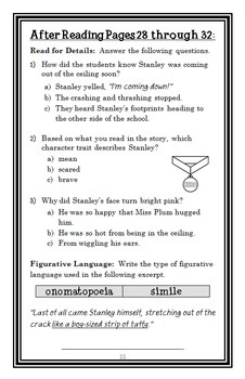 Show-and-Tell, Flat Stanley! (Flat Stanley) Novel Study / Comprehension (18 pgs)