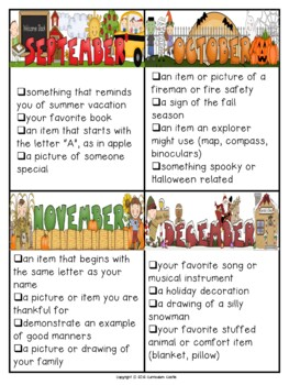 Show and Tell Ideas for the Entire Year!