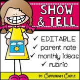 Show and Tell Ideas for the Entire Year {EDITABLE}!