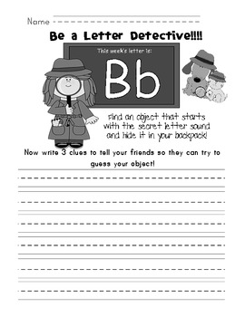Show and Tell Letter Detective