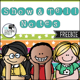 Show and Tell Note | FREE