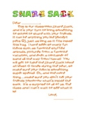 Show and Tell Parent Letter