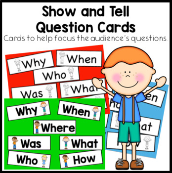 Show and Tell Question Cards. Cards to help focus the audiences questions.