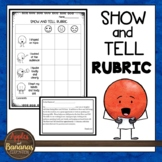 Show and Tell Speaking Rubric